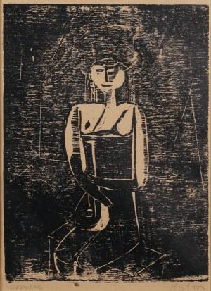 Ryszard Stryjec (1932 Lipniszki k. Lidy-1997 Gdańsk), Dziewczyna z mandoliną, 1961 r.