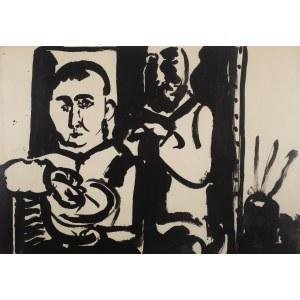 Kiejstut Bereźnicki (ur. 1935 Poznań), W pracowni, 1965 r.