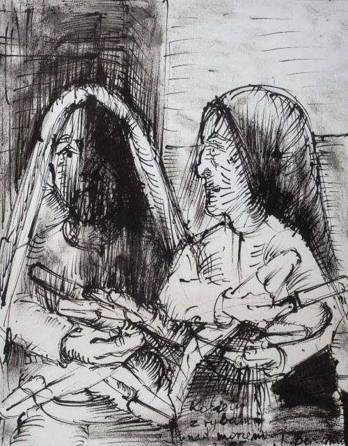 Kiejstut Bereźnicki (ur. 1935 Poznań), Kobiety z rybami nad morzem, 2005 r.