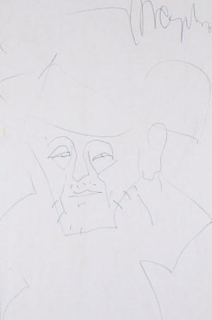 Marian Czapla (1946 Gacki-2016), Portret mężczyzny w kapeluszu