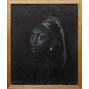 Tomasz Włodarczyk, Portret dziewczyny z perłą V, 2021