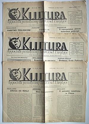 KULTURA. Tygodnik poświęcony twórczości i krytyce. Pod redakcją Kazimierza Wierzyńskiego. W-wa, 20 marca 1932...