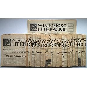 WIADOMOŚCI LITERACKIE. W-wa, 10 kwietnia 1932. Rok IX. Nr 15 (432). s. 6. Ślady składania, naddarcia