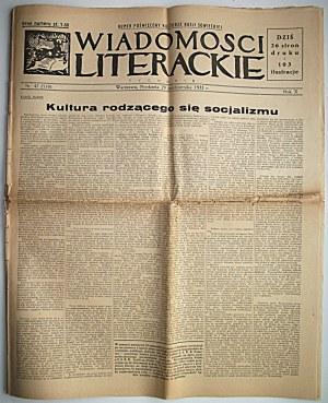 WIADOMOŚCI LITERACKIE. W-wa, 29 października 1933. Rok X. Nr 47 (518). s. 26...