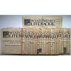 WIADOMOŚCI LITERACKIE. W-wa, 17 grudnia 1933. Rok X. Nr 54 (525). s. 8. Ślady składania, naddarcia