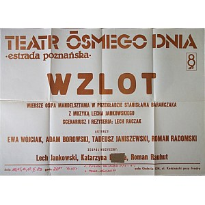 [AFISZ TEATRALNY]. Teatr Ósmego Dnia. Estrada poznańska. Wzlot...