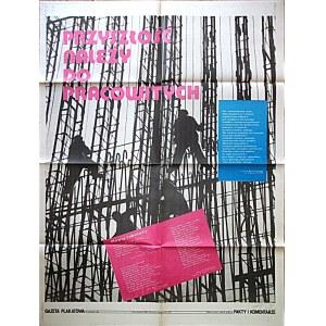 GAZETA PLAKATOWA. Przyszłość należy do pracowitych. W-wa 1982. Wyd. i druk jak wyżej. Format 62/80 cm...