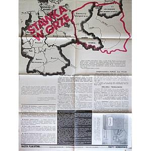 GAZETA PLAKATOWA. Stawka w grze. W-wa 1982. Wyd. i druk jak wyżej.Format 62/80 cm. Druk jednostronny...