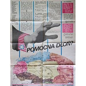 GAZETA PLAKATOWA. Pomocna dłoń. W-wa 1982. Wyd. i druk jak wyżej. Format 62/80 cm. Druk jednostronny...