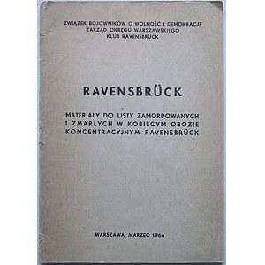 RAVENSBRÜCK. Materiały do listy zamordowanych i zmarłych w kobiecym obozie koncentracyjnym Ravensbrück. W-wa...