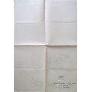[PLAKAT]. Noel des Polonais. Imprimerie EMF. Paris. [1982/83]. Format 43/64 cm. Druk jednostronny...