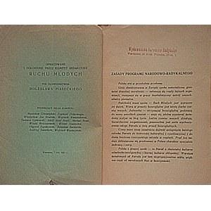 ZASADY PROGRAMU NARODOWO - RADYKALNEGO. W-wa, 7 luty 1937...