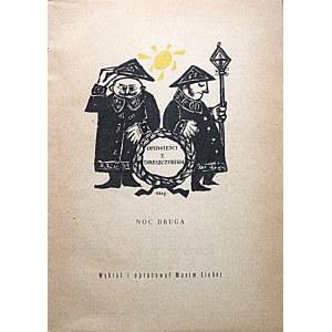 OPOWIEŚCI Z DRESZCZYKIEM. NOC DRUGA. Wybrał i opracował Maxim Lieber. W-wa 1960...