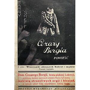 SHEFF HARRY. Cezary Borgia. Powieść. [Epilog powieści powyższej]. W-wa [1930]...