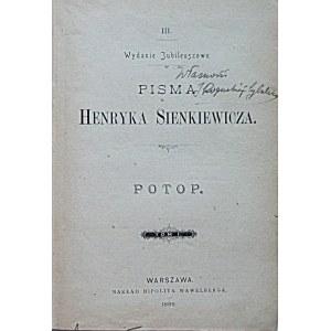 SIENKIEWICZ HENRYK. Wydanie Jubileuszowe. Pisma Henryka Sienkiewicza. [Trylogia]. Ogniem i Mieczem...