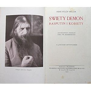 MILLER RENÉ FÜLÖP. Święty demon Rasputin i kobiety. Autoryzowany przekład Dra w. Bernarda...