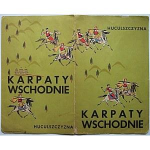 """HUCULSZCZYZNA. KARPATY WSCHODNIE. [Folder reklamowy]. Druk. Zakł. Graf. """"Biblioteka Polska"""", Bydgoszcz..."""