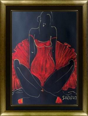 Joanna Sarapata, Ballerina w czerwonym kostiumie, 2021