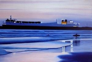 Maciej Majewski, The Surfer and the Ship, 2021