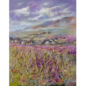 Anna Sandecka-Ląkocy (ur. 1970), Lavender valley, 2021