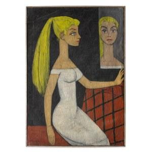 Marek Józef, Portret malarki Danuty K.[luzowej], 1957