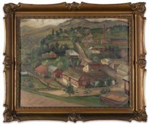 Wagner Witold (1893-1953), Pejzaż z małego miasteczka, lata 20. XX wieku