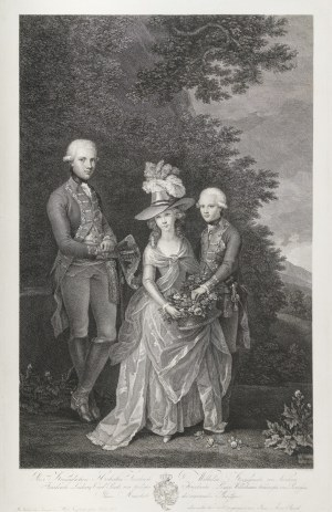 Cunego Domenico (1727 – 1803), Książę Fryderyk Wilhelm Pruski (później Fryderyk Wilhelm III król Prus), Fryderyka Luiza Wilhelmina Księżna Prus, Fryderyk Ludwig książę Pruski (dzieci Fryderyka Wilhelma II i Fryderyki Luizy), 1787