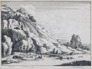 Hollar Wenceslaus (1607-1677), Pejzaż z kamiennym mostem, 1649