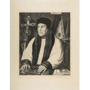 Jasiński Feliks Stanisław (1862 – 1901), Portret arcybiskupa Canterbury Williama Warhama wg. Hansa Holbeina Młodszego, 1887