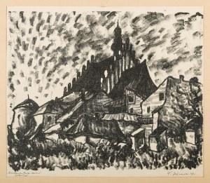 Jaźwiecki Franciszek (1900-1946), Miasteczko Biecz -Kościół, 1931