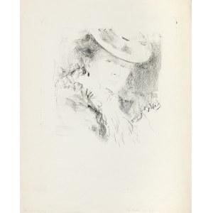 Rychter Tadeusz (1870-1943), Portret kobiety w kapeluszu (Głowa P. J), początek XX w.