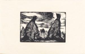 Weiss Wojciech (1875-1950), Aneri malująca pod kopami – pejzażystka, 1926