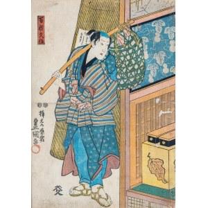 Utagawa Kunisada (1786 – 1865), Aktor Kabuki, około 1850