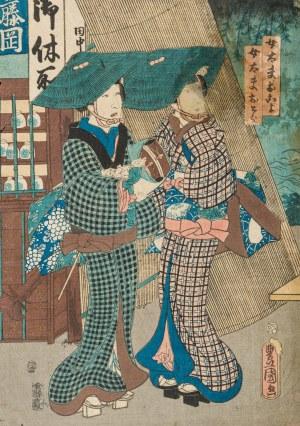 Utagawa Kunisada (1786 – 1865), Dwie kobiety, 1856