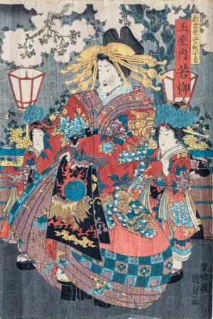 Utagawa Kunisada II (1823 – 1880), Kurtyzana, połowa XIX wieku