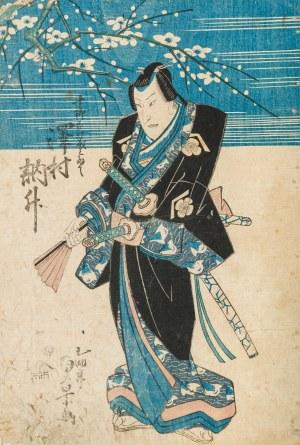 Utagawa Sadakage (czynny w latach 1818 – 1844), Samuraj, pierwsza połowa XIX wieku
