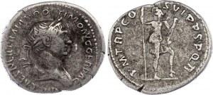 Roman Empire Denarius 114 - 117 AD
