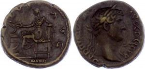 Roman Empire AE As 117 - 138 AD Hadrian, Official Restrike