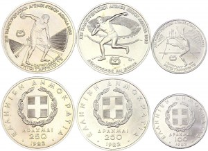 Greece Lot of 3 Coins 1982
