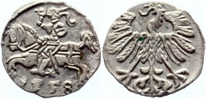 Lithuania Denar 1558 R2 Sigismund II Augustus