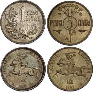 Lithuania 5 Centai & 1 Litas 1925