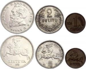 Lithuania 1 Centas - 2 - 5 Litai 1925 - 1936