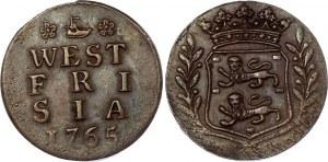Netherlands West Friesland Duit 1765 Overstrike