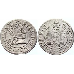 Poland Grosz 1582 R1 Sigismund II August