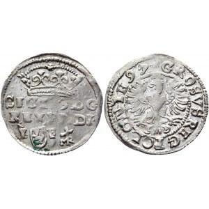 Poland Groschen / Grosz 1597 R5 Sigismund III Vasa (+VIDEO)