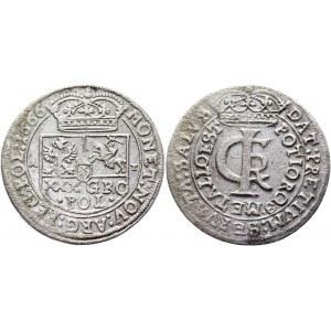 Poland 30 Groschen / Złotówka 1666 AT John II Casimir