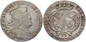 Poland 6 Groschen / Szóstak 1756 EC R2 August III Sas
