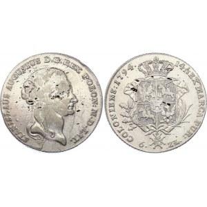 Poland Talar of 6 Zlotych 1794