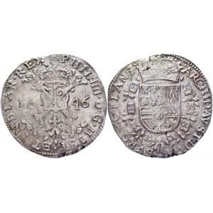 Spanish Netherlands Flanders 1 Patagon 1646