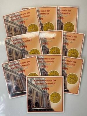 Austria Lot of 10 Coin Sets 1999
